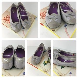 GUC Puma suede and leather flats pastel purple
